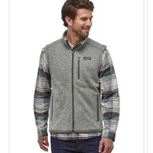 PATAGONIA Better Sweater Gray Fleece Vest Full Zip